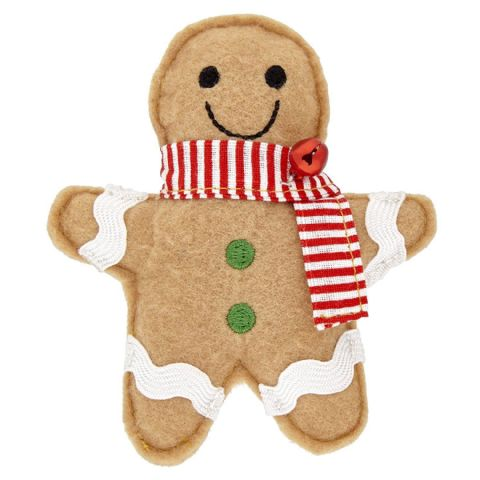Good Girl Festive Catnip Gingerbread Man Toy for Cats 11cm